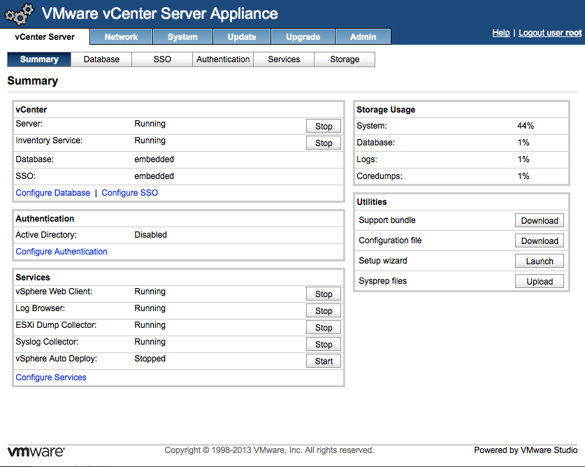 The VMware vCenter Appliance Configuration is Complete