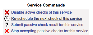 Nagios Service Commands