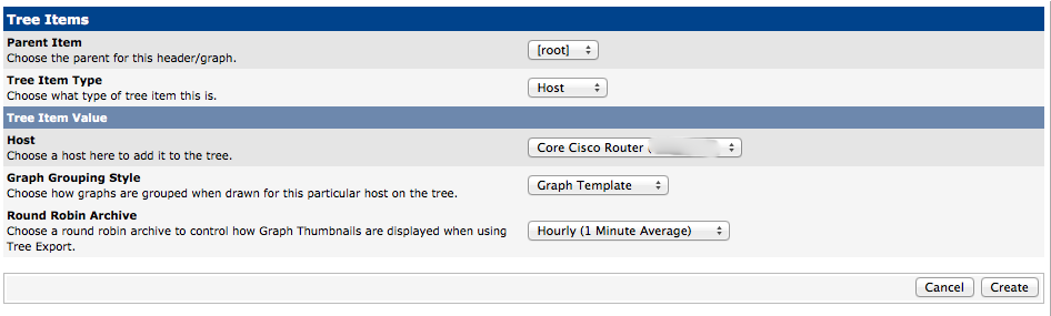 Add Your Router Device to a Cacti Graph Tree