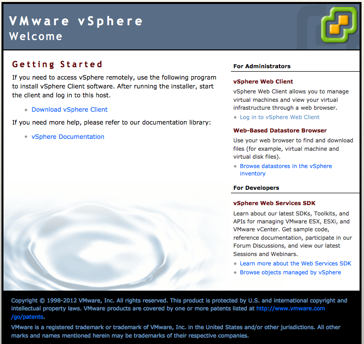 Browse to the vCenter Appliance 5.5