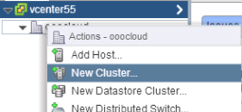 Create vCenter Cluster inside your Datacenter
