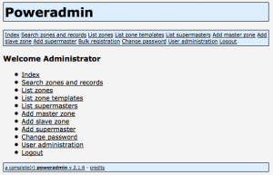 Poweradmin Main Menu