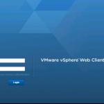 vSphere Web Client Login